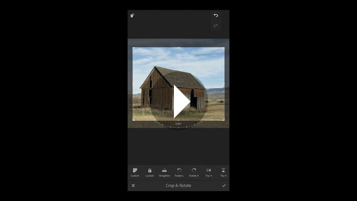 Cropping and Straightening Photographs in Lightroom Mobile