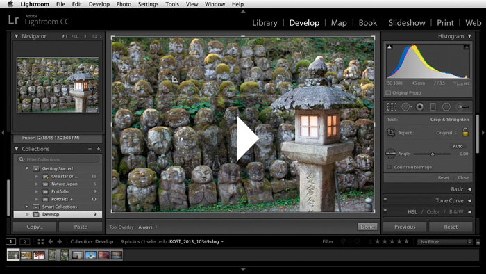 Getting Started in Lightroom CC: Cropping Images