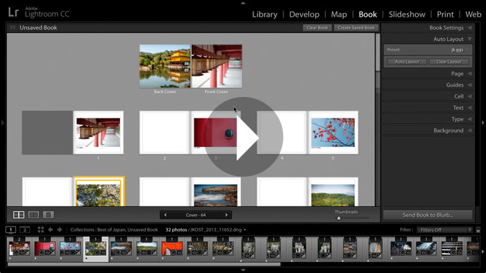 Getting Started in Lightroom CC: Book Module Basics