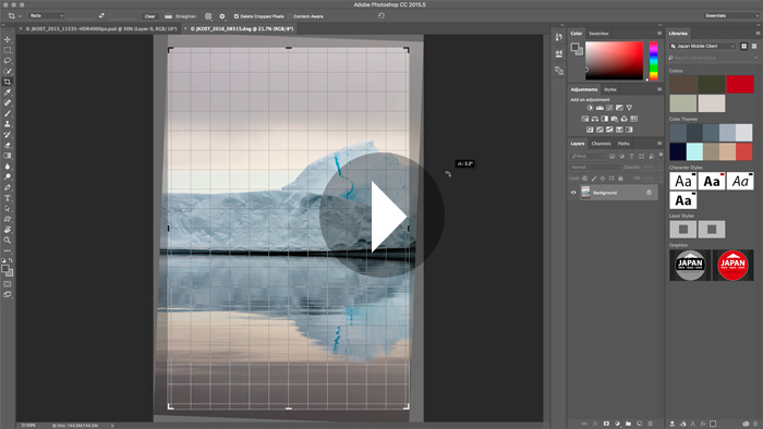 The Content Aware Crop Tool in PhotoshopCC