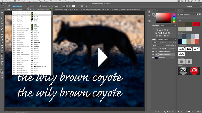New Typographic Features in PhotoshopCC