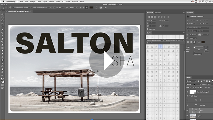 Variable Fonts and Additional Typographic Enhancements in Photoshop CC