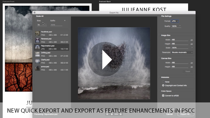 New Quick Export and Export As Feature Enhancements in Photoshop CC